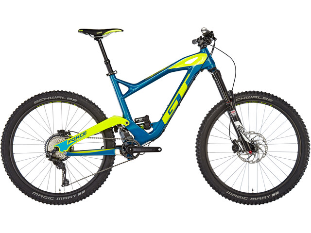 "GT Bicycles Force Carbon Expert Heldämpad MTB 27,5"" gul/blå"